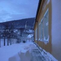 ZŠ Košariská - snehová nádielka